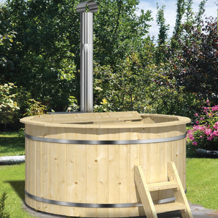 Hot tub with internal heater (spruce)