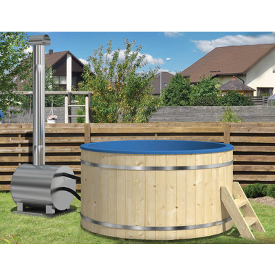 Hot tub with external heater 200 (plastic interior)